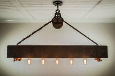 """The Rustic"" - 4 Foot Beam Chandelier"