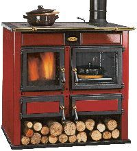 Ambra Decorative The Ambra wood burning cooking stoves offer large