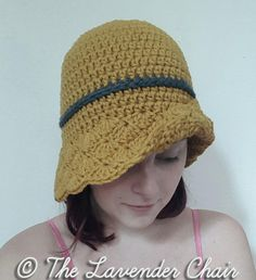 Simple Shells Cloche Hat Crochet Pattern PDF by TheLavenderChair