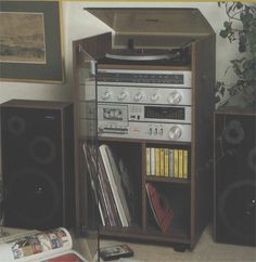 Old style stereo...a staple in every family room or teenager's bedroom!