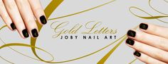 Browse Joby Nail Art's selection of sleek and sassy nail stickers and nail decals. Nail Art Stickers, Gold Letters, Nails, Check, Collection, Products, Finger Nails, Ongles, Nail