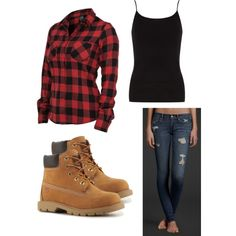 Cute Outfits with Timberlands | fashion how to wear boots timberlands outfit created by catielady98 ...
