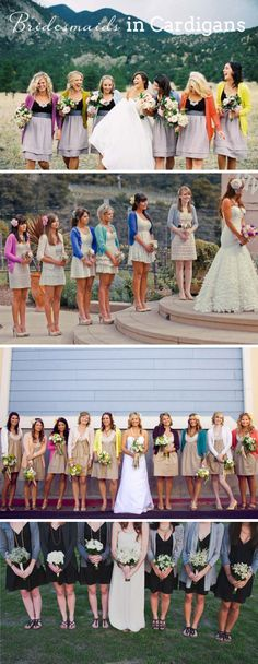 Bridesmaids in cardi