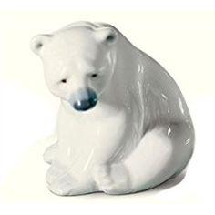 Lladro Polar Bear, White, Figurine