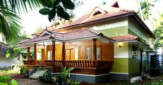 3 Bedroom Budget Traditional Kerala Home for 22 Lakhs in 5 Cent Plot - Free Kerala Home Plans Indian Home Design, Kerala House Design, Modern House Design, Kerala Traditional House, Traditional House Plans, 2bhk House Plan, Dream House Plans, Dream Houses, Village House Design