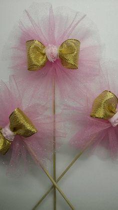 Rosa oro pieza central primer cumpleaños por fourDOLLYSboutique