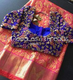 #WorkBlouse Best Blouse Designs, Half Saree Designs, Pattu Saree Blouse Designs, Bridal Blouse Designs, Blouse Neck Designs, Maggam Work Designs, Designer Blouse Patterns, Work Blouse, Sarees