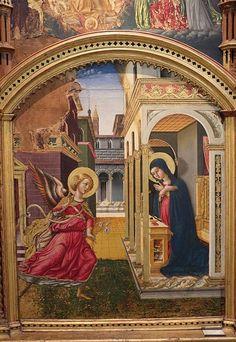 Annunciation by Niccolò di Liberatore,Pinacoteca Nazionale (Bologna)