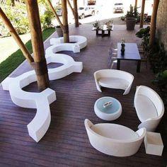 Slide design modern benches