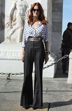 ミラノコレ会場で人気モデル&エディターの最新私服をキャッチ!  上級者テイラーはレディ×マスキュリンが気分