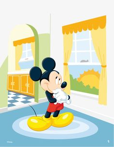 Mickey cartoon room vector material, Character, Cartoon, Animal PNG and Vector