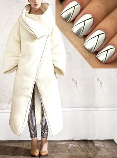 Get geometric metallic #nails