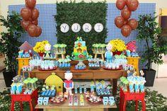 Encontrando Ideias: Festa Três Porquinhos!! Party Fiesta, Three Little Pigs, Candy Table, Bad Wolf, Party Themes, Picnic, Cake, Kids, Food