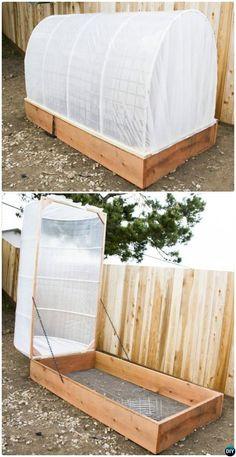 Serra coperto fai da te Raised Garden Bed-20 fai da te giardino sfoggiato Idee Bed Istruzioni