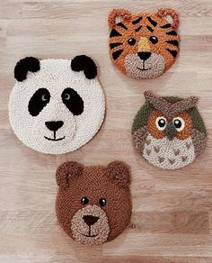 My Owl Barn: Punch Needle Embroidered Wall Decorations by Tangled Dot Diy Projects Handmade, Handmade Toys, Punch Needle Patterns, Diy Arts And Crafts, Punch Art, Rug Hooking, Diy Toys, Yarn Crafts, Embroidery Patterns