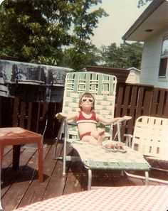 Vintage sunbathing! by madillonsmom, via Flickr