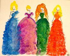 HAUTE SKETCH BLOG / DESIGNSBYBC: Art: Watercolor Fashions