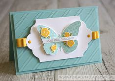 By Teneale Williams   Cottage Greetings and Floral Wings Stamp Sets from Stampin' Up!   TGIF challenge use your new catty faves  #tgifc12