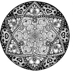 Wonderful Zentangle by Rose Twofeather