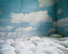 Pillow room. If I had an abundance of rooms, I would totally make one of these. The walls wouldn't be padded, though. That's too much like an asylum.
