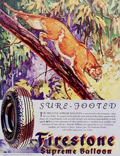 Firestone Sure Footed Supreme Balloon 1930s