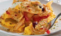 800 g de bacalhau em postas 2 cebolas 2 tomates 1 pimentão verde 1 pimentão vermelho 1 kg de batata 1 xícara (chá) de azeitonas pretas sem caroço 250 ml de azeite&nbs…