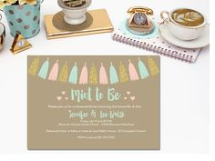 Printable mint to be rehearsal invitation by PrettyPrintablesInk on Etsy