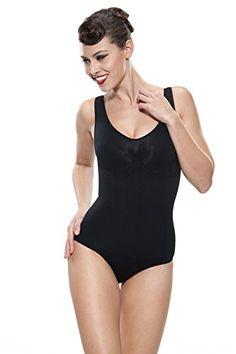 0ae6fe595 Franato Womens Brief Body Shaper Tummy Torso Back Slimmer Shapewear Bodysuit  Large Black   You can