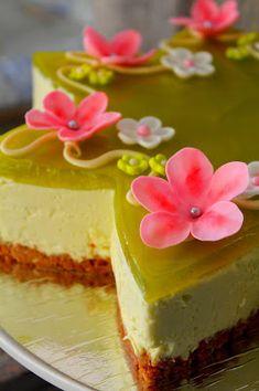 Kakkuviikarin vispailuja!: Vihreä omena-valkosuklaajuustokakku
