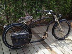Bicicleta Personalizada (46) Beach Cruiser Bikes, Cruiser Bicycle, Motorized Bicycle, Beach Cruisers, Lowrider, Steampunk Bicycle, Bici Retro, Chopper Bike, Bike Pedals