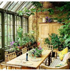 Inspiration of a kitchen conservatory. Decorate your living areas with artificial plants.Fauxtreesnshrubs.com