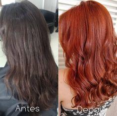 Dark Strawberry Blonde Hair, Summer Hairstyles, Cool Hairstyles, Ginger Hair Color, Copper Hair, Haircut And Color, Pastel Hair, Rainbow Hair, Hair Today
