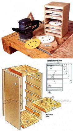 Sandpaper Caddy Plans - Sanding Tips, Jigs and Techniques   WoodArchivist.com