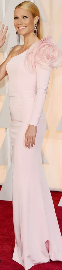 GWYNETH PALTROW 2015 OSCARS - Pale Pink Ralph & Russo | surprisingly my fave of the night