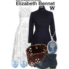 Inspired by Lily James as Elizabeth Bennet in 2016's Pride & Prejudice & Zombies.