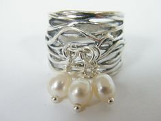 SHABLOOL sterling Silver 925 ring with Pearl R1566