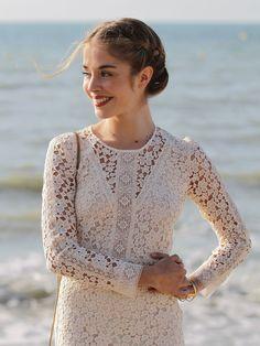 """Très jolie:Die französische Schauspielerin Alice Isaaz (""""Der Vater meiner besten Freundin"""")trug beim Filmfestival in Cabourg ein tolle Flechtfrisur."""