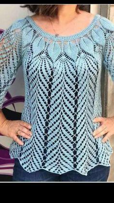 Thread Crochet, Love Crochet, Vintage Crochet, Crochet Doilies, Crochet Lace, Crochet Vest Pattern, Crochet Blouse, Baby Knitting Patterns, Crochet Patterns