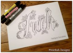 Cool Things To Buy (Swear Words Coloring Book: Check Out This F*cking. Swearing Coloring Book, Swear Word Coloring Book, Colouring Pages, Adult Coloring Pages, Coloring Books, Colouring Sheets, Pretty Patterns, Just In Case, How To Draw Hands