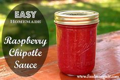 My family LOVES this easy, homemade Raspberry Chipotle Sauce served over pork chops, roasted chicken or turkey, or even salmon patties. It also makes an excellent appetizer/dip when drizzled over cream cheese.