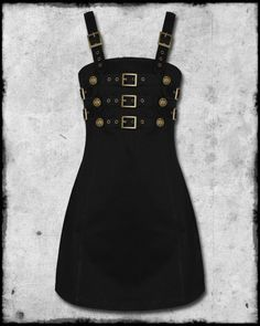 Dead Threads steampunk mini dress goth emo punk gorgeous black size S Steampunk Dress, Steampunk Clothing, Steampunk Fashion, Lolita Fashion, Gothic Fashion, Pretty Punk, Emo Dresses, Pink Dresses, Military Dresses