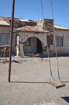 Ghost Town. Humberstone Salpeter Works. Iquique, Chile.