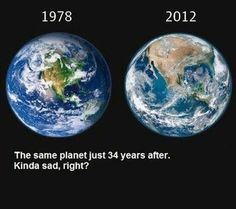 This clearly conveys our current trend, towards a tangible devastating outcome, but we can change the direction before it is too late. The earth is our only home, our future to protect or destroy. This growing environmental imbalance has happened in such a short blip of earth's history, there sadly isn't more time to squander. #saveplanetearth