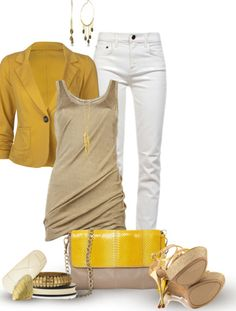 Summer colors - yellow, champagne & white.