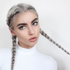 Stylish Boxer Braids Hairstyles braids frisuren, 30 Badass Boxer Braids You Need to Try Boxer Braids Hairstyles, Braided Hairstyles, French Hairstyles, Natural Hairstyles, Pigtail Braids, Plaits, Cornrows Braids White, White Girl Cornrows, Braided Pigtails