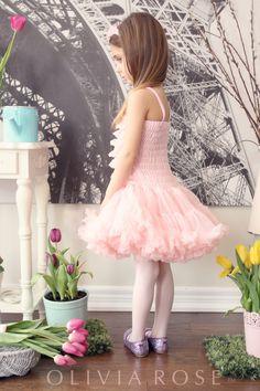 Petti Lace Dress Rose Pink  PLD-102-RP