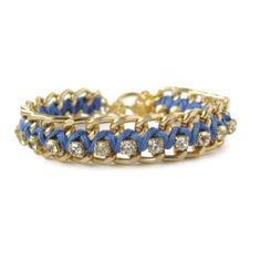 Light Cobalt Woven Rhinestone Bracelet