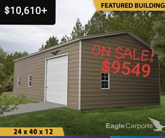 Try our New 3D Builder.  Customize your metal building and get an estimated quote for what you need.  Questions?(must call or text to get greatest discounts) Call or text 430-252-1912. This 3D builder is great. A little slow but accurate. Still for exact pricing AND discounts you must talk to a specialist. So call or text 430-252-1912 Metal Buildings For Sale, Shop Buildings, Steel Buildings, Metal Carports, Metal Garages, Custom Garages, Metal Shed, Metal Barn, Carport With Storage