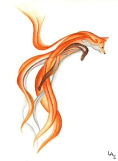 Jumping Fox Canvas Print by Red Fox Tattoos, Body Art Tattoos, Panther Tattoos, Tree Tattoos, Tattoo Ink, Hand Tattoos, Sleeve Tattoos, Fox Tattoo Design, Fox Design