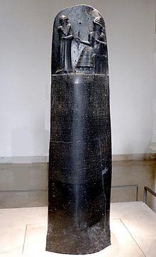 Código de Hammurabi- Conjunto de primeras leyes de la historia creada en la civilización mesopotámica Actualmente se conserva en el museo de Louvre- París, imagen sacada de: Wikipedia(2016)'' El código de Hammurabi'' https://es.wikipedia.org/wiki/C%C3%B3digo_de_Hammurabi (8-10-2016) 13:35
